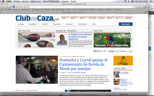 Club-Caza informa sobre el Campeonato de Sorda del Valle de Mena