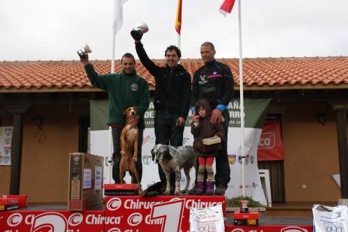 Podio del Campeonato de España de Caza Menor con Perro 2012