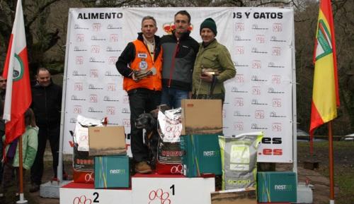 Podio XXII Campeonato de España de Becada