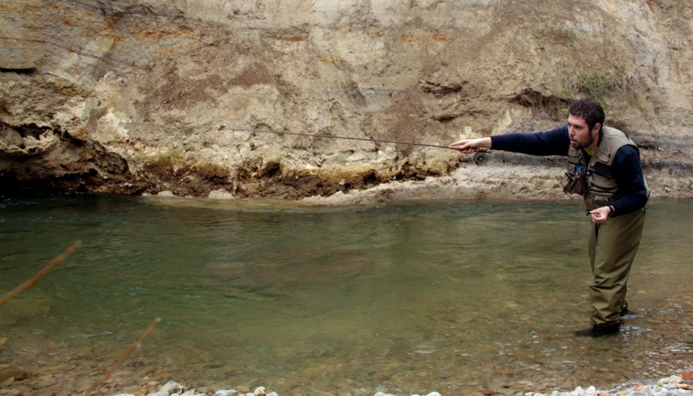 Pesca a ninfa en los ríos del norte de Burgos (2/3)