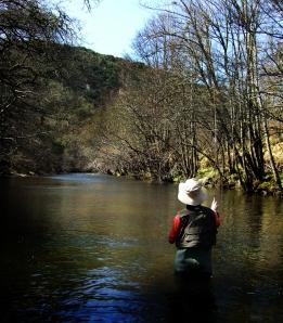 Pesca a ninfa en el norte de Burgos