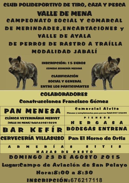 Campeonato de perros de rastro sobre jabalí Valle de Mena